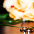 Wedding bands — Stock Photo
