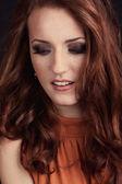 Beautful redhead girl — Stock Photo