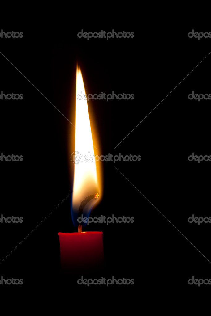 Burning candle — Stock Photo #10539097