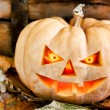 Halloween creepy pumpkin — Stock Photo