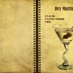 Постер, плакат: Dry Martini Recipe