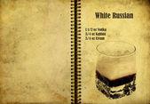 Receita russa branca — Fotografia Stock