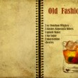 Old Fashioned recipe — Stock Photo