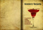 Strawberry Margarita recipe — Stock Photo