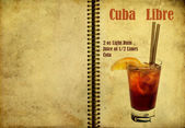Cuba Libre recipe — Stock Photo