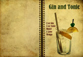 Gin and Tonic recipe — Stock Photo