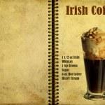 Постер, плакат: Irish coffee recipe