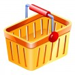 Shopping basket — Vector de stock #8488725