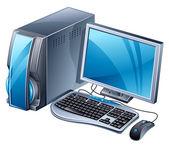 Desktop computer — Stock Vector