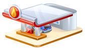 Gasoline station — Stock Vector