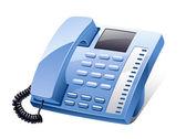 Landline phone — Stock Vector