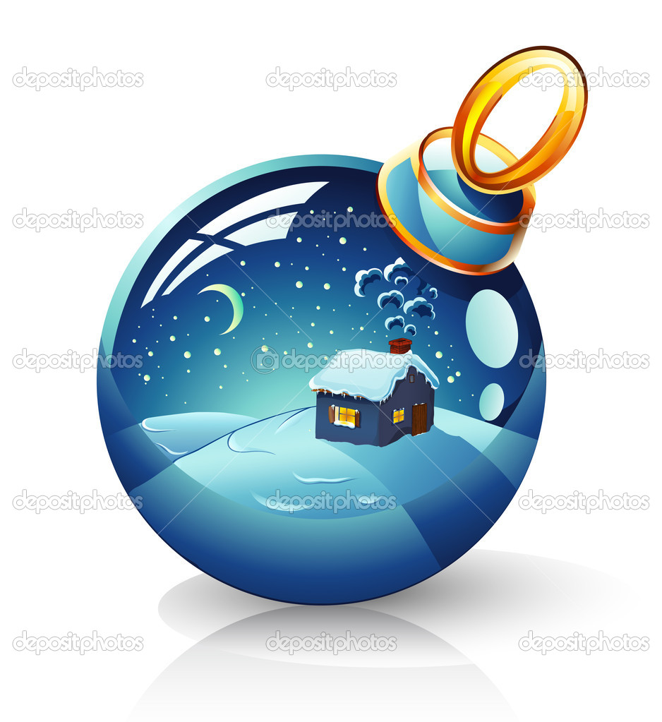 Vector illustration of Christmas ball on white background — Stock Vector #8488737