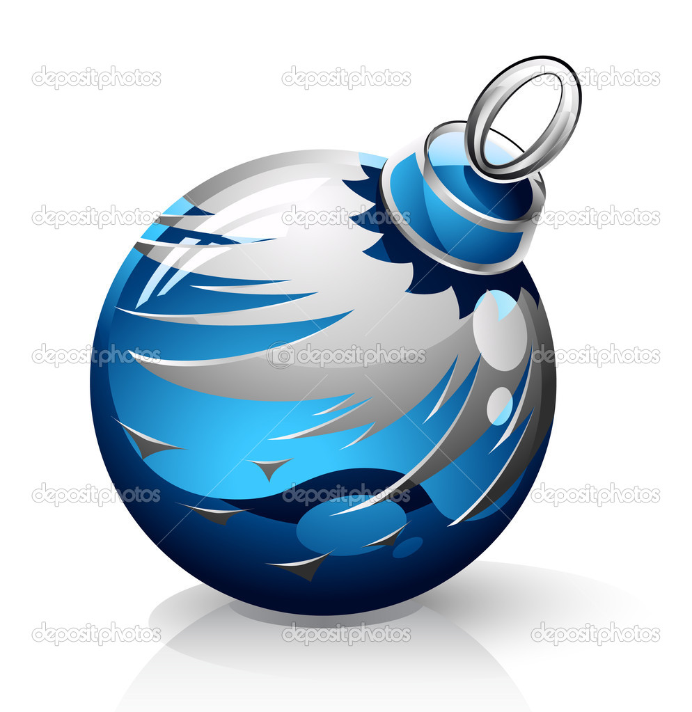 Vector illustration of Christmas ball on white background  Stock Vector #8488739