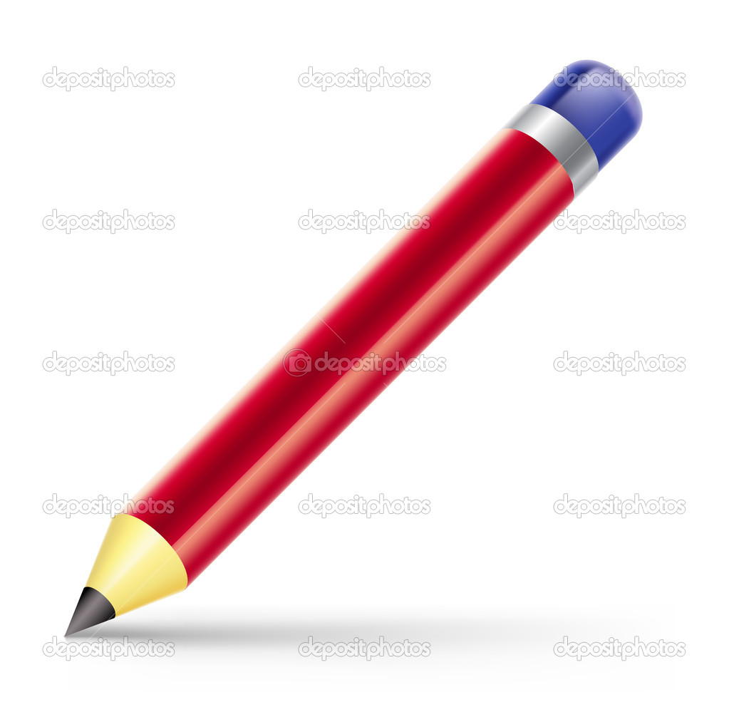 Vector illustration of pencil on white background — Stock Vector #8488964