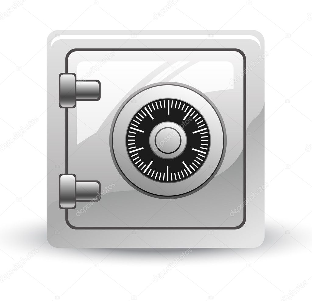 Vector illustration of safe on white background — Stock Vector #8489017