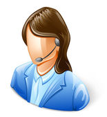 Customer Service Representative — Stock Vector