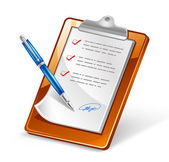 Clipboard with Pen — Stockvector