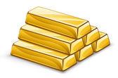 Gold ingots — Stock Vector