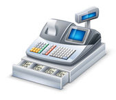 Cash register — Stock Vector