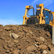 Bulldozer on building site — Stock Photo #10541170