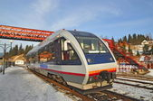 Modern passenger train for small distances — Stock Photo