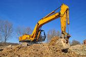 In einer zone arbeiten ausgraben — Stockfoto