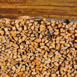 Chipped fire wood - Foto de Stock  