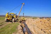 Construção de gasoduto — Fotografia Stock
