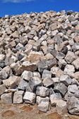 Granite cobblestones — Foto Stock