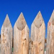 Fragment of a wooden fence. — Stock Photo