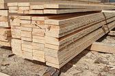 Edging board in stacks. — Stock Photo