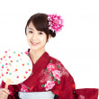 Beautiful kimono woman — Stock Photo