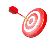 Dart hit the target — Stock Photo