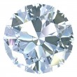 Round, old european cut diamond — Stock Photo