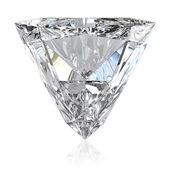 Trilliant cut diamond — Stock Photo