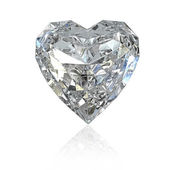 Heart shaped diamond — Stock Photo