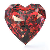 Heart shaped ruby — Stock Photo