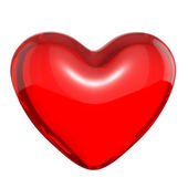 Transparent red candy heart — Stock Photo