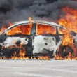 Stock Photo: Burning car