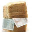 Stock Photo: Bread money
