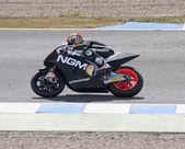 Alex de Angelis in curve — Stock Photo