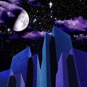 City Night Abstract — Stock Photo
