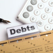 Debt - Stock Photo