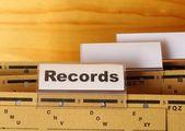 Records — Stock Photo