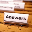 Answers — Stock Photo