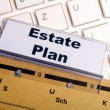 Real estate plan — Stock Photo