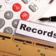Records — Stock Photo