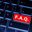 Faq or frequently asked questions concept — Stok fotoğraf