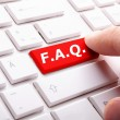 Faq frequently asked questions key — Stock fotografie #9297491