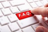Faq frequently asked questions key — Stock Photo